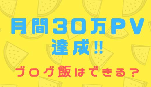 ブログ月間30万PV突破!ブログ飯できるようになった?