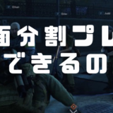 【World War Z】画面分割して2人プレイで遊べるの?