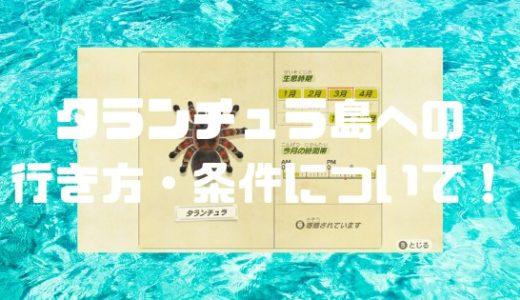 【あつ森】タランチュラ島(無限湧き)の行き方・条件について!【あつまれどうぶつの森】